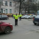 Asigurarea fluenţei traficului rutier pe b-dul Unirii în zona Şcolii nr. 3